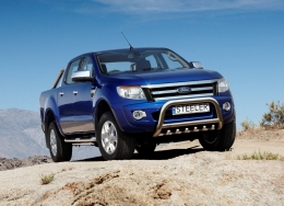 Кенгурятник с грилем Ford Ranger 2012- Steeler